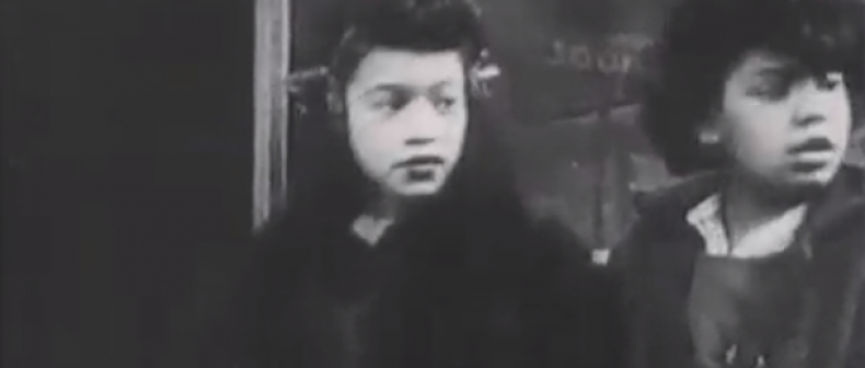 "Screen capture from the 1948 ""In the Street"""